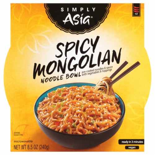Simply Asia Spicy Mongolian Noodle Bowl Perspective: front