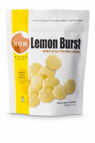 Wow Baking Company Wheat & Gluten Free Lemon Burst Cookies Perspective: front