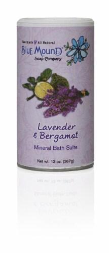 Blue Mound Lavender & Bergamot Mineral Bath Salts Perspective: front