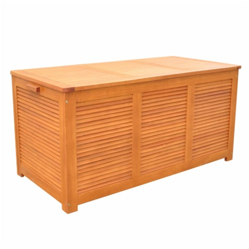 Outdoor Cushion Storage Deck Box Perspective: front