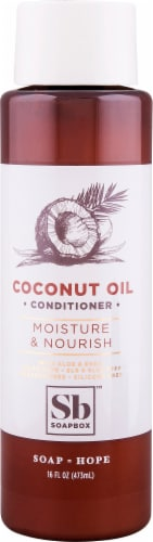 Soapbox Coconut Oil Conditioner Perspective: front