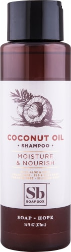 Soapbox Coconut Oil Shampoo Perspective: front