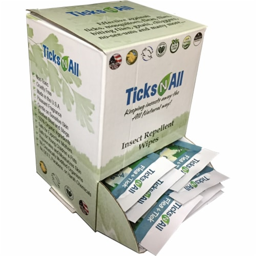 All Natural Flea and Tick Wipes 4 Cats (50 cnt.) Perspective: front