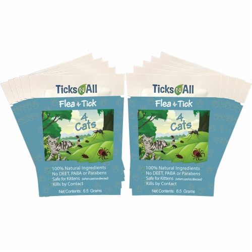 All Natural Flea and Tick Wipes 4 Cats (10 cnt.) Perspective: front