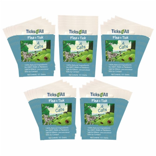 All Natural Flea and Tick Wipes 4 Cats (25 cnt.) Perspective: front
