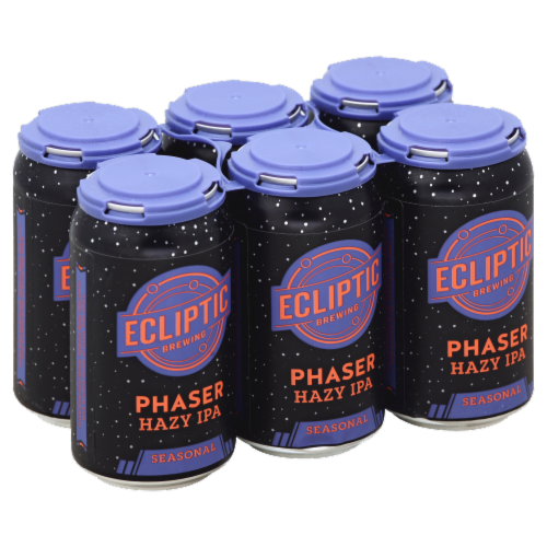 Ecliptic Brewing Seasonal Phaser Hazy IPA Perspective: front