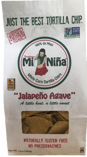 Tortilleria Mi Nina Jalepeno Agave Tortilla Chips Perspective: front