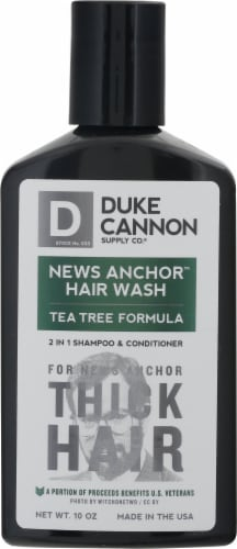 Duke Cannon News Anchor Hair Wash Tea Tree Formula 2 in 1 Shampoo & Conditioner Perspective: front