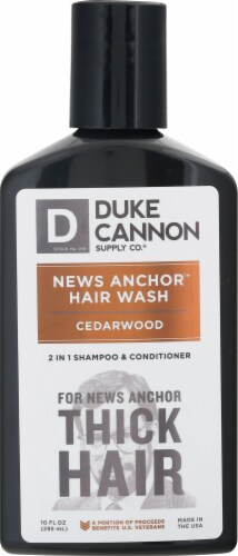 Duke Cannon News Anchor Cedarwood 2-in-1 Hair Wash Perspective: front