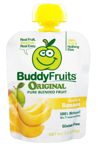 Buddy Fruits Original Apple & Banana Pure Blended Fruit Perspective: front