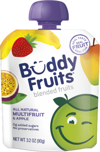 Buddy Fruits All Natural Multifruit & Apple Blended Fruits Perspective: front