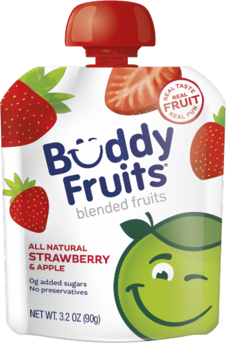 Buddy Fruits All Natural Strawberry & Apple Blended Fruits Perspective: front