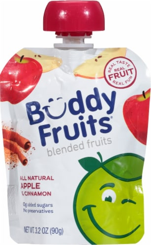 Buddy Fruits Apple Cinnamon Blended Fruit Pouch Perspective: front