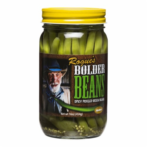 Bolder Beans Medium Spicy Pickled Green Beans Perspective: front
