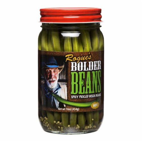Bolder Hot Pickled Green Beans Perspective: front