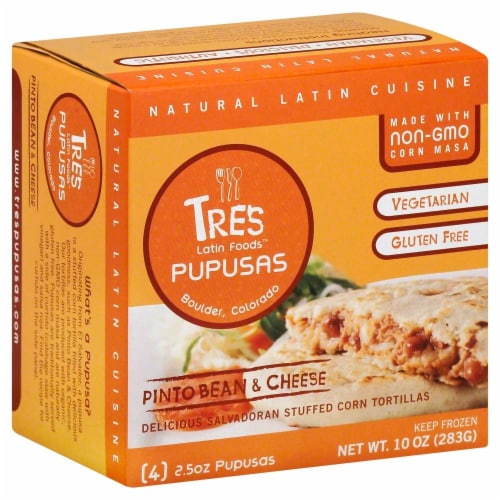 Tres Pinto Bean & Cheese Pupusas Perspective: front