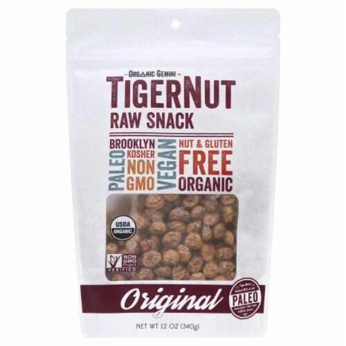 Organic Gemini Tigernut Raw Snack Perspective: front