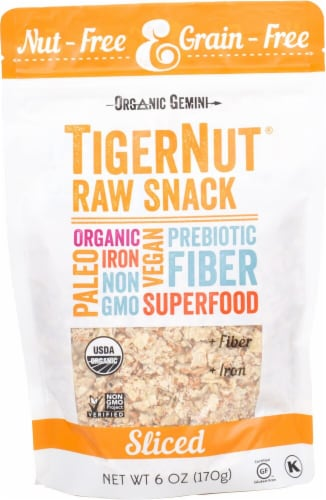 Organic Gemini TigerNut Sliced Raw Snack Perspective: front