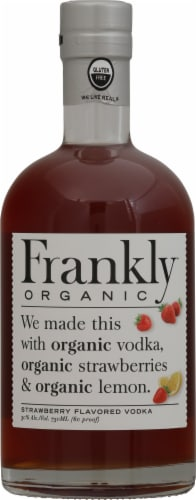 Frankly Organic Vodka Strawberry Flavored Vodka Perspective: front