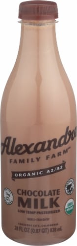Alexandre Family Farm Organic A2/A2 Chocolate Milk Perspective: front