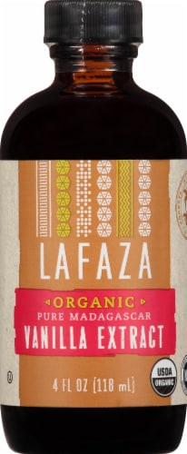 LAFAZA Organic Madagascar Vanilla Extract Perspective: front