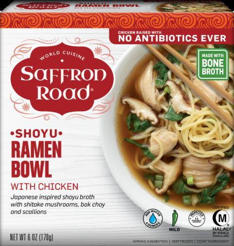 Saffron Road Shoyu Ramen Bowl With Chicken Perspective: front