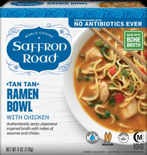 Saffron Road Tan Tan Chicken Ramen Bowl Perspective: front