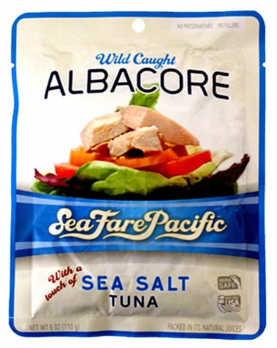Sea Fare Pacific Sea Salt Albacore Tuna Perspective: front