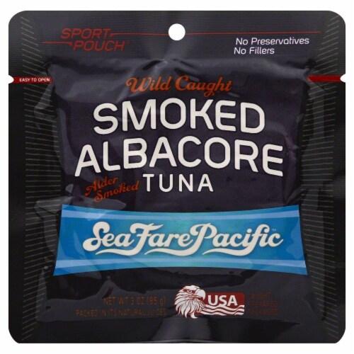 Sea Fare Pacific Wild Caught Smoked Albacore Tuna Perspective: front