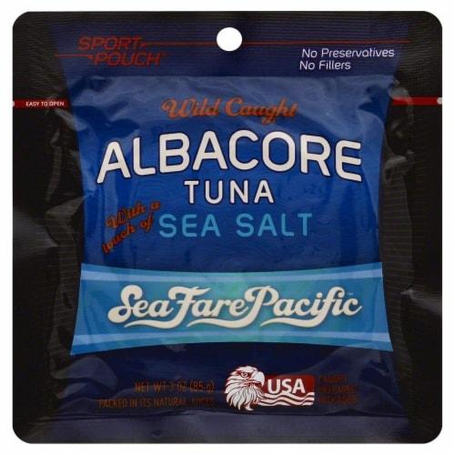 Sea Fare Pacific Wild Caught Albacore Tune with Sea Salt Perspective: front