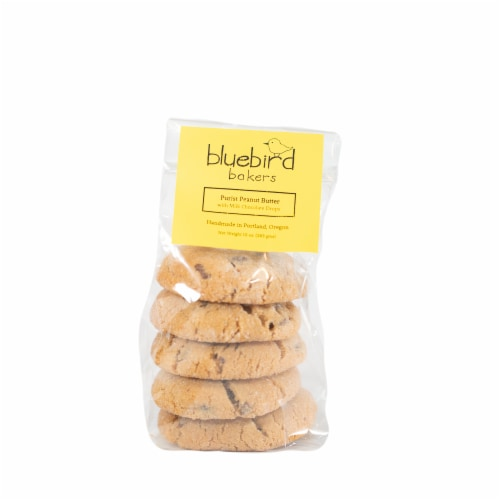 Bluebird Bakers Peanut Butter Cookies Perspective: front