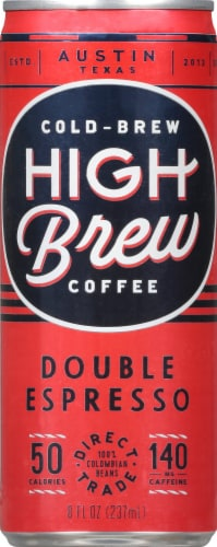 High Brew Coffee Double Espresso Cold-Brew Coffee Perspective: front