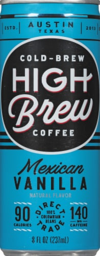 High Brew Mexican Vanilla Cold-Brew Coffee Perspective: front