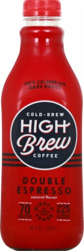 High Brew Double Espresso Cold Brew Coffee Perspective: front