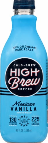 High Brew Mexican Vanilla Cold Brew Coffee Perspective: front