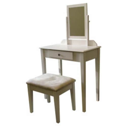 ORE International 50.5  Tall Wood 3-Piece Make-Up Vanity Set in Bronze Perspective: front