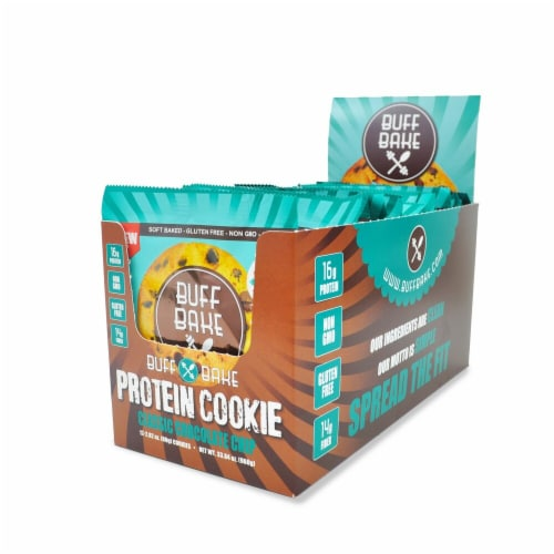 Buff Bake  Protein Cookie   Classic Chocolate Chip Perspective: front