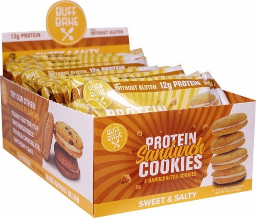 Buff Bake Sweet & Salty Protein Sandwich Cookies Perspective: front