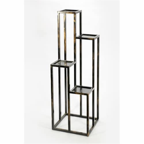 ORE International LB-1713 47.25 in. 4 Tier Cast-Iron Plant Stand Perspective: front