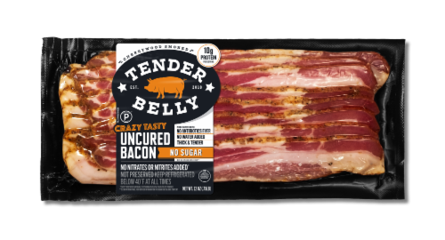Tender Belly No Sugar Cherrywood Smoked Dry Rub Uncured Bacon Perspective: front