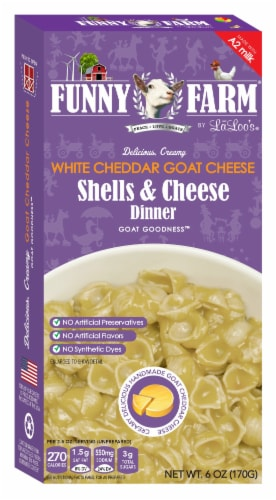 Funny Farm White Cheddar Goat Cheese & Shells Dinner Perspective: front