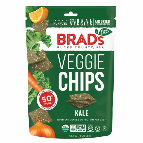 Brad's Kale Veggie Chips Perspective: front