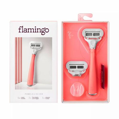 Flamingo Pomelo / Silver Razor Kit Perspective: front
