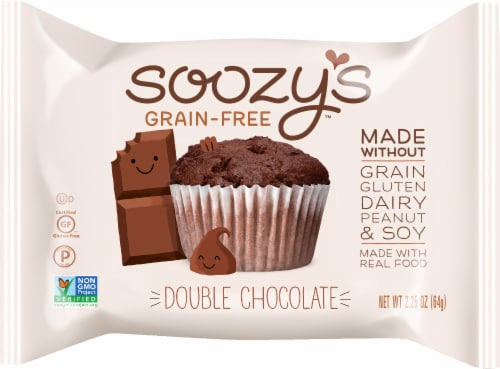 Soozy's Grain-Free Double Chocolate Muffin Perspective: front