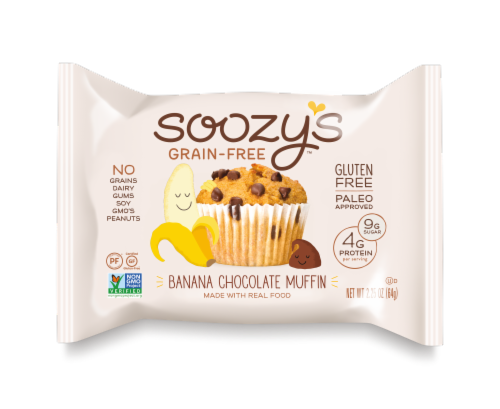 Soozy's Grain & Gluten Free Banana Chocolate Chip Muffin Perspective: front