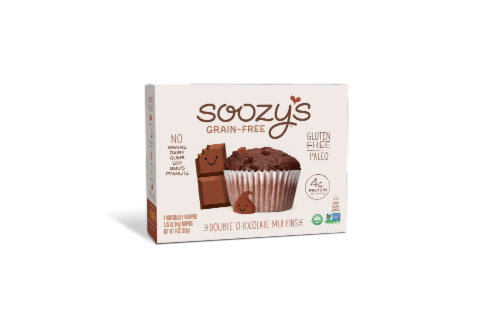 Soozy's Double Chocolate Muffins Perspective: front