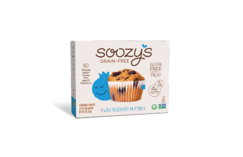 Soozy's Wild Blueberry Muffins Perspective: front