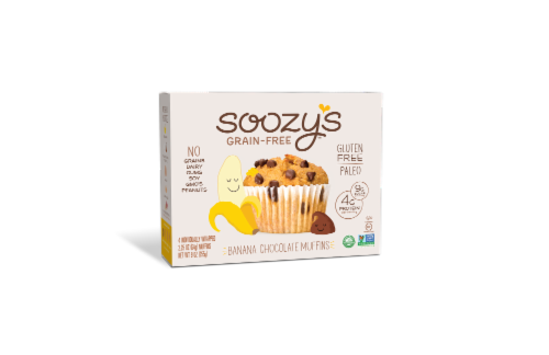 Soozy's Banana Chocolate Chip Muffins Perspective: front