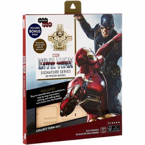 IncrediBuilds Marvel Captain Marvel Civil War 3D Wood Model and Book Perspective: front