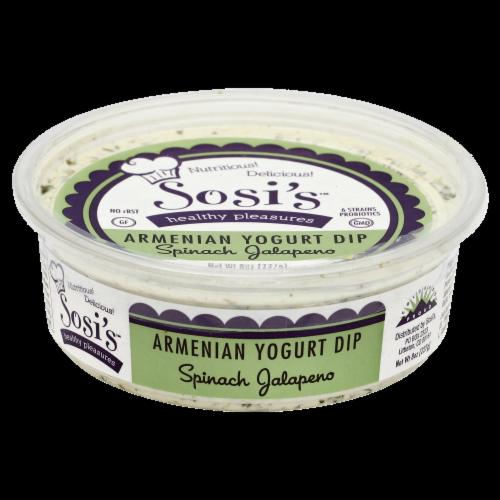 Sosi's Spinach Jalapeno Armenian Yogurt Dip Perspective: front